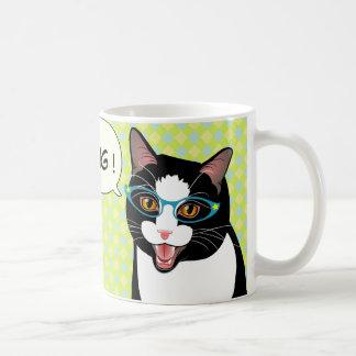Japanese Tuxedo Cat Breakfast Good Morning Mug