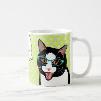 Japanese Tuxedo Cat Breakfast Tea Good Morning Mug