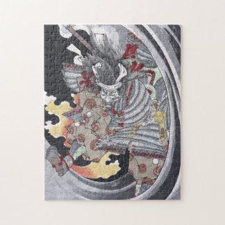 Japanese Ukiyo-e Yokai Ghost by Yoshitoshi Jigsaw Puzzle