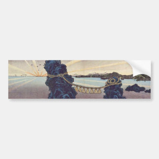 Japanese ukiyoe art (kunisada utagawa) bumper sticker