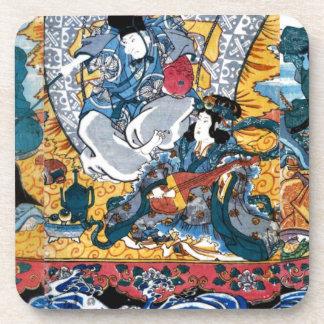 Japanese Ukiyoe Art (kunisada utagawa) Coaster