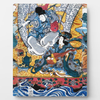 Japanese Ukiyoe Art (kunisada utagawa) Plaque