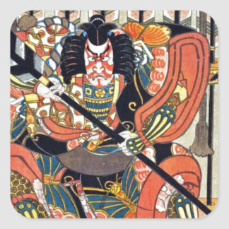 Japanese ukiyoe art (kunisada utagawa) square sticker