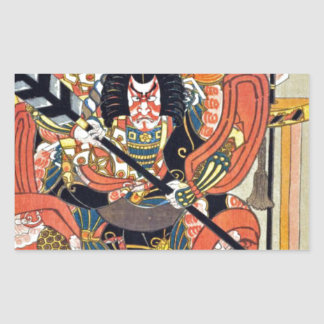 Japanese ukiyoe art (kunisada utagawa) sticker