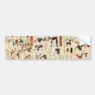 Japanese Ukiyoe Art (Kuniyoshi Utagawa) Bumper Sticker