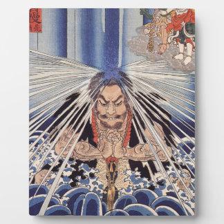 Japanese ukiyoe art plaque