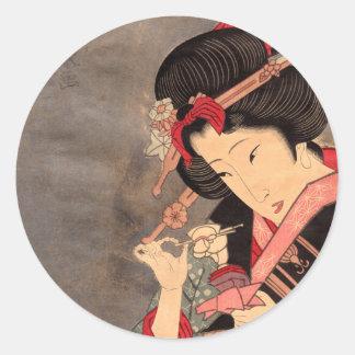 Japanese Ukiyoe Art vol.2 Classic Round Sticker
