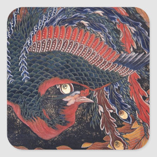 Japanese Ukiyoe Art vol.9, Katsushika Hokusai Square Sticker
