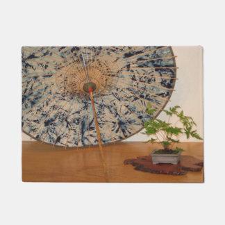 Japanese Umbrella and Bonsai Tree Washington DC Doormat