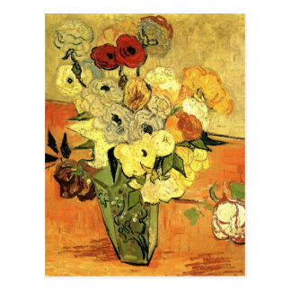 Japanese Vase with Roses and Anemones by van Gogh Postcard
