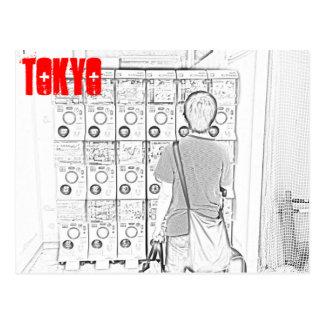Japanese Vending Machines in Tokyo Postcard