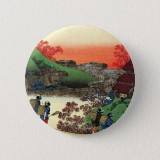 Japanese Village 2 Inch Round Button