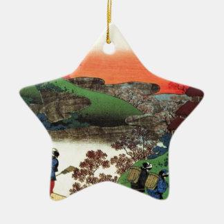 Japanese Village Ceramic Ornament