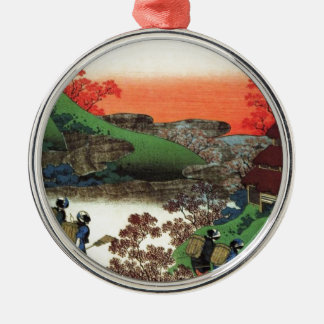 Japanese Village Metal Ornament