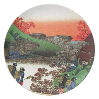 Japanese Village Plate