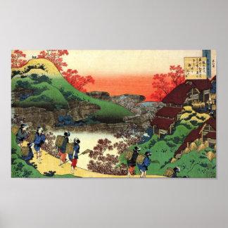 Japanese Village Poster