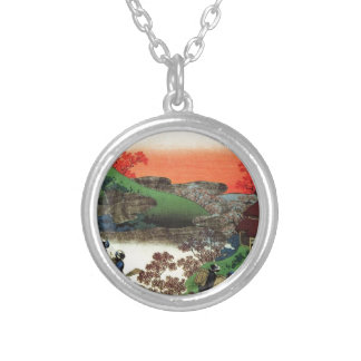 Japanese Village Silver Plated Necklace