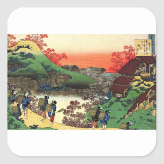 Japanese Village Square Sticker