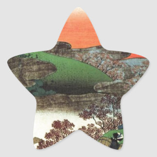 Japanese Village Star Sticker