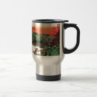 Japanese Village Travel Mug