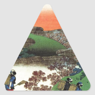 Japanese Village Triangle Sticker