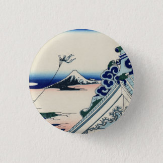 Japanese Vintage Art Fuji from Honganji Temple 1 Inch Round Button