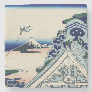 Japanese Vintage Art Fuji from Honganji Temple Stone Coaster