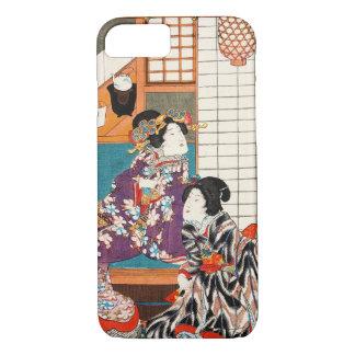 Japanese vintage beauty geisha lady woman Maiko iPhone 8/7 Case