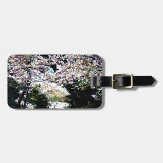 Japanese Vintage Cherry Blossoms Luggage Tag