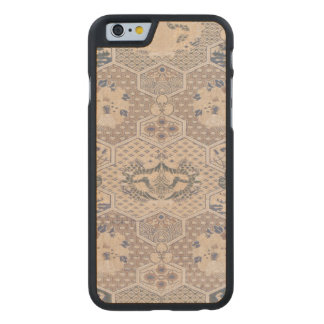 Japanese Vintage Pink Blue Geometric Textile Carved® Maple iPhone 6 Case