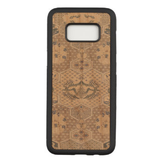 Japanese Vintage Pink Blue Geometric Textile Carved Samsung Galaxy S8 Case