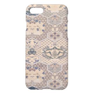 Japanese Vintage Pink Blue Geometric Textile iPhone 7 Case