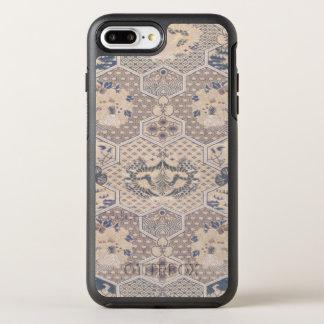 Japanese Vintage Pink Blue Geometric Textile OtterBox Symmetry iPhone 7 Plus Case
