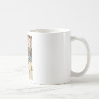 Japanese vintage ukiyo-e geisha old scroll coffee mug
