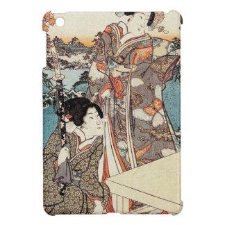 Japanese vintage ukiyo-e geisha old scroll iPad mini cases