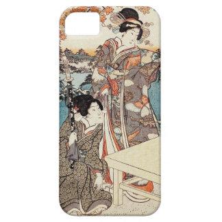 Japanese vintage ukiyo-e geisha old scroll iPhone 5 cases