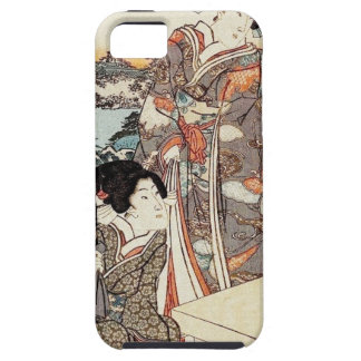Japanese vintage ukiyo-e geisha old scroll iPhone 5 covers