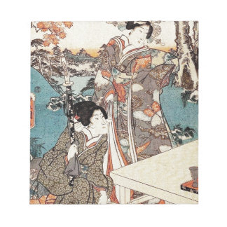 Japanese vintage ukiyo-e geisha old scroll notepad