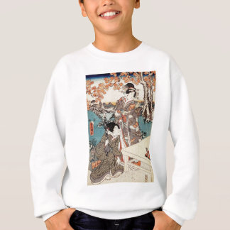 Japanese vintage ukiyo-e geisha old scroll sweatshirt