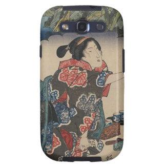 Japanese Vintage Ukiyo-e Lady Mountain Scene Galaxy S3 Cases