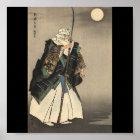 Japanese Warrior Painting. Circa 1922 Poster