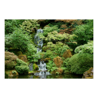 Japanese Waterfall Posters