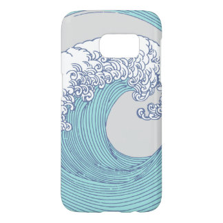 Japanese Wave Art Print Ocean Surf Beach Samsung Galaxy S7 Case