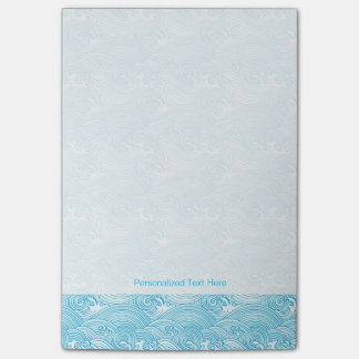 Japanese Waves Pattern in Ocean Colors Post-it Notes