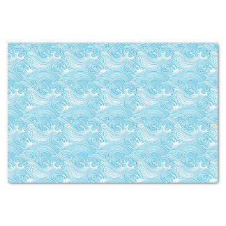 Japanese Waves Pattern in Ocean Colors Tissue Paper