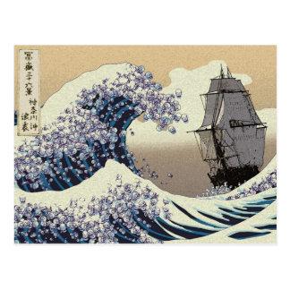 JAPANESE WAVES POSTCARD