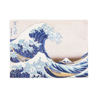 Japanese Waves Welcome Mat