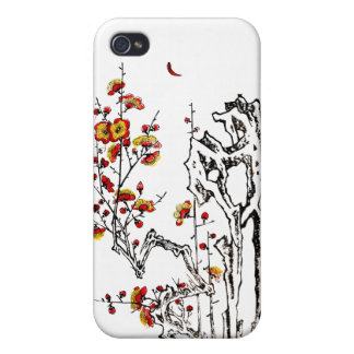 Japanese Wild Blossoms 02 iPhone 4 Covers
