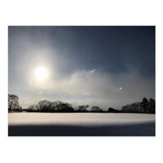 Japanese winter scene - Hokkaido- Postcard