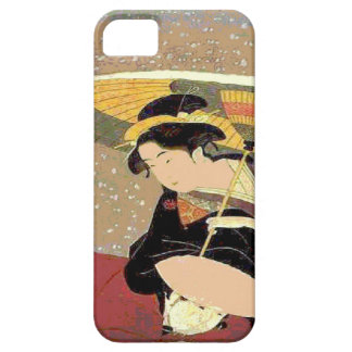 Japanese Woman Face Print iPhone 5 Covers